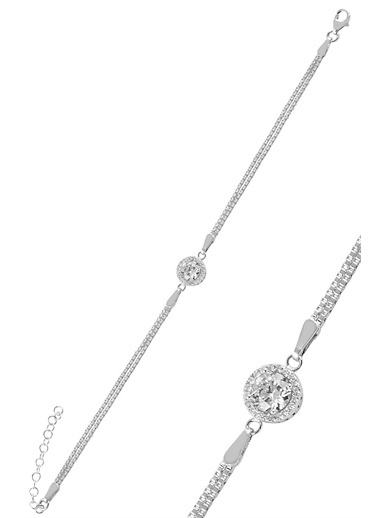 Söğütlü Silver Gümüş Zirkon Taşlı Pırlanta Montürlü Yuv Gümüş